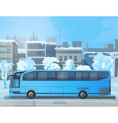 Blue bus vector