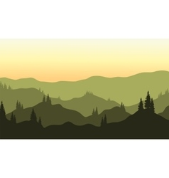 View of hills silhouette vector