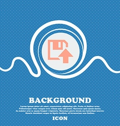 Floppy icon flat modern design blue and white vector