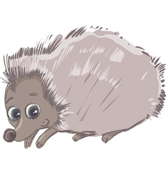 Cartoon hedgehog animal character vector