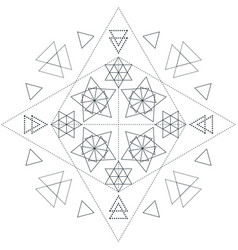 Abstract sacred geometry decoration vector