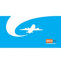airplane flight tickets air fly cloud sky blue vector image vector image