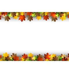 background autumn white space vector image vector image