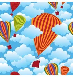 balloon seamless pattern vector image