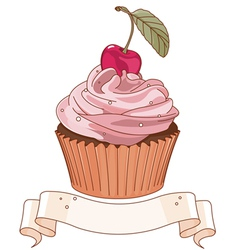 Beautiful cupcake vector