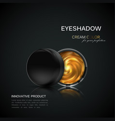 beauty eye shadows ads vector image vector image