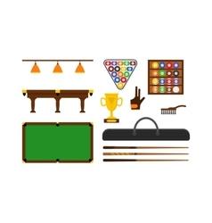 Billiard Game Equipment Set vector image vector image