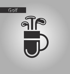 Black and white style icon bag with clubs vector