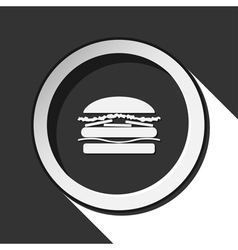 black icon - hamburger and stylized shadow vector image vector image