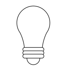 bulb imagination innovation outline vector image