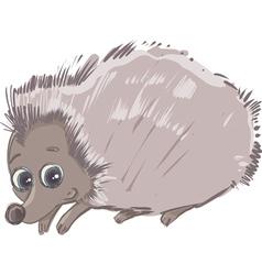 Cartoon hedgehog animal character vector