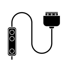 Computer cable connection plug pictogram vector
