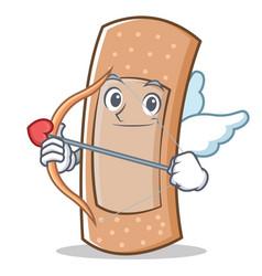cupid band aid character cartoon vector image