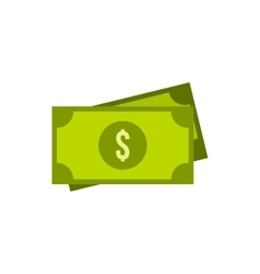 Dollar bills icon in flat style vector image