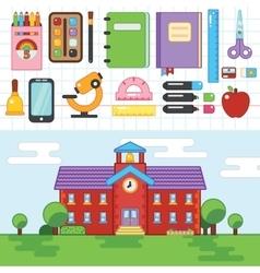 Education School University Flat vector image