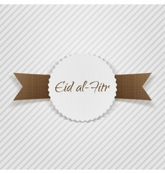 Eid al-fitr greeting paper tag vector