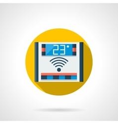 Electronic temperature control round icon vector
