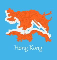 Flat icon in form of hongkong vector