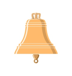 Gold bell isolated on white vector