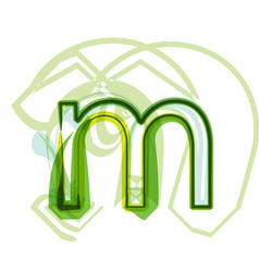 Green letter M vector image