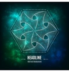 Hexagonal 3d abstract geometric shape on a vector image vector image