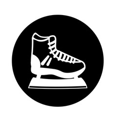 Ice skate isolated icon vector