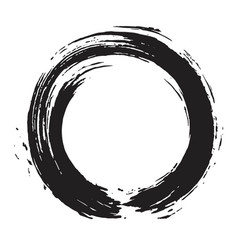japanese enso zen black ink logo art design vector image vector image