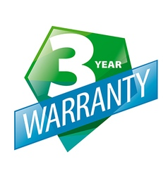 Logo 3 year guarantee in the form of shield vector