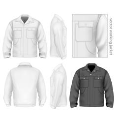 Men work jacket vector image vector image