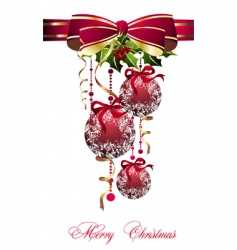 Merry Christmas balls vector image vector image