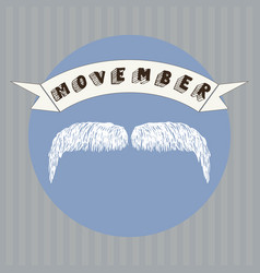 mustache and movember vector image
