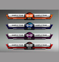 scoreboard design elements vector image