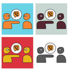 Set of viber flat icon element template for vector