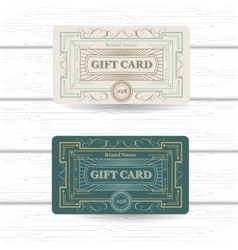set of vintage ornament greeting or gift card vector image