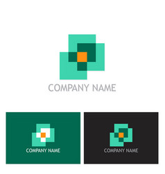 square abstract logo vector image vector image