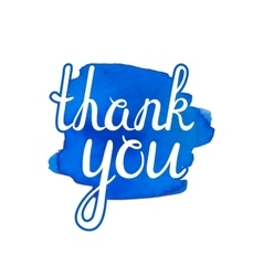 Thank you inscription vector image vector image