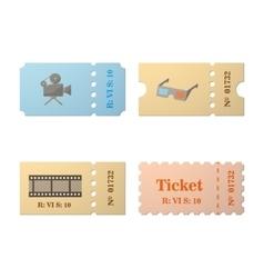 Ticket set icon vector image