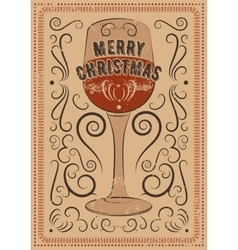 Typographic vintage style christmas card vector