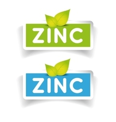Zinc label set vector image
