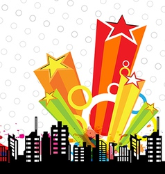 Urban design and star decoration vector