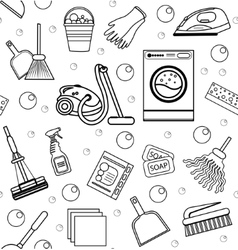 Cleaning seamless pattern endless background vector image