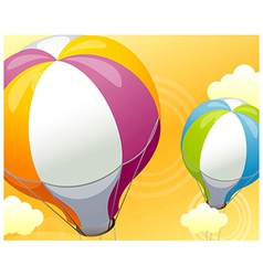 Hot air balloon sky vector
