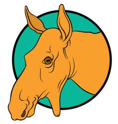 Moose mascot vector