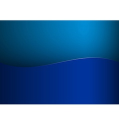 background blue stripe wave one vector image