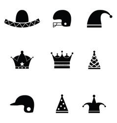 Hat icon set vector