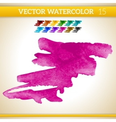 Pink watercolor artistic splash for design and vector