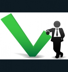 business man symbol vector image