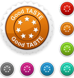 Good taste award vector