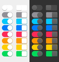 Colorful switchers vector