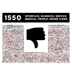 Thumb Down Icon and More Interface Business vector image